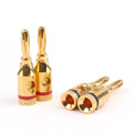 Mad Hornets 50PCS Cable Wire 4mm Gold Plated Banana Plug Connector Musical Audio Speaker