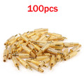 Mad Hornets 100PCS Gold-Plated Stereo Male 1/8 3.5mm Jack Plug Audio Adapter Booted Headphone