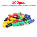 Mad Hornets 100PCS 4mm Banana Plug Power Amplifiers Binding Post