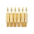 Mad Hornets 6PCS Gold-Plated Stereo Male 1/8 3.5mm Jack Plug Audio Adapter Booted Headphone