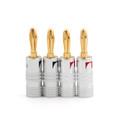 Mad Hornets 4PCS Speaker Banana Plug DIY Audio Jack Connector 24K Gold Plated