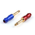 """Mad Hornets 12PCS 6.3mm 1/4"""" Mono Jack Plug Connector Soldering Brass Gold Plated"""