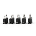 Mad Hornets 5PCS Airplane 3.5mm Stereo Headphone Earphone Socket Adapter Connector