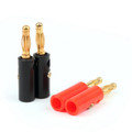 Mad Hornets 100PCS 4mm Gold Plated Banana Plug Black And Red Connector