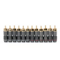 Mad Hornets 12PCS Copper RCA Plug Gold Plated Audio Video Adapter Connector
