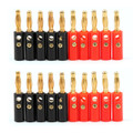 Mad Hornets 20PCS 4mm Gold Plated Banana Plug Black And Red Connector