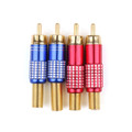 Mad Hornets 4PCS RCA Male Plug Solder Audio Video Adapter Connector