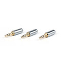 Mad Hornets 3PCS Copper Gold Plated 3.5mm Male Stereo Jack Plug Soldering Connector