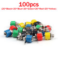 Mad Hornets 100PCS 4mm Banana Socket Jack Banana Plug Connector
