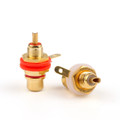 Mad Hornets 50PCS Gold Plated RCA Jack Panel Mount Chassis Socket Connector
