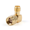 Mad Hornets 1Pc Adapter 90° RP.SMA Male Jack To RP.SMA Female Plug Connector Right Angle M/F