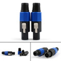 Mad Hornets 2PCS 4 Pin Speakon Speaker Connector Male Audio Plug Blue