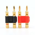 Mad Hornets 2PCS Connector - Stackable Double 4mm Banana Plug Speaker Loudspeaker Plug
