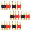 Mad Hornets 12PCS Gold Connector - Stackable Double Banana Plug Speaker Loudspeaker Plug