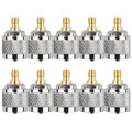 Mad Hornets 10PCS Adapter PL259 UHF Plug Male To SMA Female Jack RF Connector Straight M/F