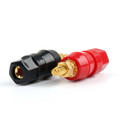 Mad Hornets 100PCS Copper Gold Plated Audio Speaker Binding Post Banana Jack Connectors