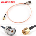 Mad Hornets 50cm RG316 Cable SMA Male Plug To SO239 UHF Female Jack Straight Pigtail 20in
