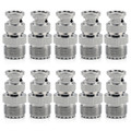 Mad Hornets 10PCS Adapter SO239 UHF Jack Female To BNC Male Plug RF Connector Straight F/M
