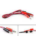 Mad Hornets 1 Set Test Hook Clips Probe To 4mm Banana Plug Leads IC Grabbers Probes 1M
