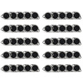 Mad Hornets 50PCS Metal 7 Pin DIN Female Socket Hulled Panel Mount Connectors