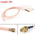 Mad Hornets 2m RG178 Cable RP.SMA Female Plug Bulkhead To IPX U.FL Coax Pigtail 6ft