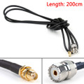 Mad Hornets 200cm RG58 Cable SMA Female Jack To SO239 UHF Female Straight Coax Pigtail 6ft