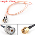 Mad Hornets 100cm RG316 Cable SMA Male Plug To SO239 UHF Female Jack Straight Pigtail 3ft