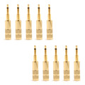 Mad Hornets 10PCS Upgraded 2.5mm Mono Jack Plug Connector Audio HD700 HE Oppo PM-1 PM-2, Gold
