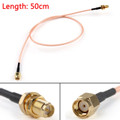 Mad Hornets 50cm Cable BNC Female Jack To MCX Male Plug Right Angle RG316 20in Jumper Pigtail