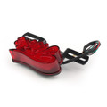 LED Brake Tail Light Running Lamp Plastic Housing For Harley Chopper Motorcycle, Red