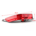 Left Red Rear Fog Lamp Bumper Cover Reflector For VW Touareg (2011-2014)