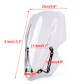 Windscreen Windshield with Bracket Kawasaki Z900 Meter Cover (2017-up) Clear