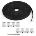 Mad Hornets 8PCs GT2 Pulley 20Teeth Bore 8mm + 5m GT2 Timing Belt For 3D Printer Part RepRap