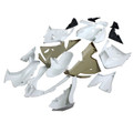 Fairings Kawasaki ZX10R Ninja Racing Primal only Unpainted (2004-2005) (Fairing-ZX10R-0405-999)
