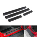 4PCs Interior ABS Plastic Door Entry Guards For Jeep Wrangler JK 4Drs (07-17) Black