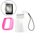 Silicone Case Cover + Screen Protector For Garmin Edge Explore 820 GPS Bike, Pink