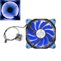 Mad Hornets 120mm 3 4 Pin CPU Sleeve Bearing Cooling Fan Computer Ring Light 12V, Blue