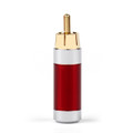 Mad Hornets 1PCS RCA Assembly Jack 8mm Caliber Audio Rhodium-plated Plug Adapter Red