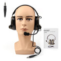 Tactical H50 Headset Used with Peltor PTT / U94 PTT For Kenwood two way radio