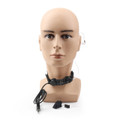 1Pcs Throat Mic Headset Walkie-talkie VOX Field Operation Military Radio Black