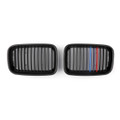 Kidney Grille M Color Striped For BMW E36 3 Series M3 (1992-1996) Matte Black