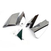 Seat Saddle Shield Heat Deflectors For Harley-Davidson Electra Glide Standard, Chrome (M201-001-Chrome)