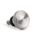 Bolt Screw Cushion Seat For Harley Softail Deluxe FLSTN (05-16) FXST (99-07) Silver
