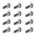 12PCs Titanium Bolts M6 x 20mm Brake Rotor Disc Bolts For Yamaha R1 R6 FJR1300 FZ 600/1000