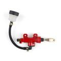 Rear Master Cylinder Hydraulic Brake Pump Fluid Reservoir Universal, Red
