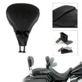 HD Rider Driver Backrest for Touring Road King FLHR 1998-2008, Black