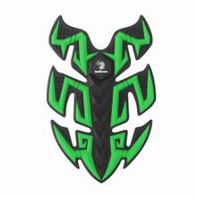 Rubber Sport Bike Gas Oil Tank Pad Protector Fish Bone Sticker, Green (Pad-045-M-Green)