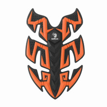 Rubber Sport Bike Gas Oil Tank Pad Protector Fish Bone Sticker, Orange (Pad-045-M-Orange)