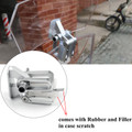 Adjustable Clip On Windshield Extension Spoiler Wind Deflector For Motobike