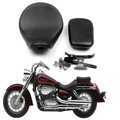 Synthetic Leather Front Rear Cushion Seat Fit Honda Shadow Aero VT400 VT750C(04-13) Black (M512-F022-Black)
